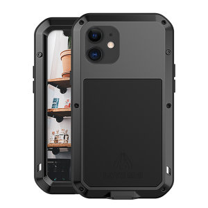 Protect your iPhone 12 Max with one of the toughest and most protective cases on the market, ideal for helping to prevent possible damage from water and dust - this is the stunning, black Love Mei Powerful Protective Case.