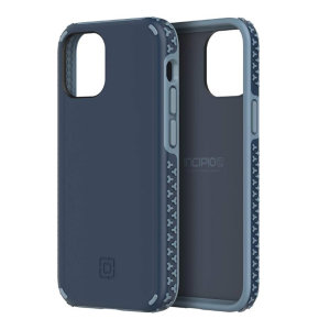 Stunning, insignia blue, Incipio grip case for the iPhone 12. This case is perfect for adding some style to your life, as well as reducing stress through its innovative shock absorption technology and 360 protection.