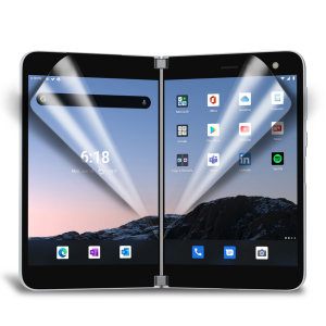 Keep your Microsoft Surface Duo screen in pristine condition with this Olixar scratch-resistant screen protector 2-in-1 pack. Ultra responsive and easy to apply, these screen protectors are the ideal way to keep your display looking brand new.