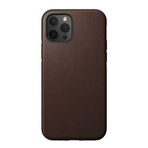 Nomad iPhone 12 Pro Rugged Protective Leather Case - Rustic Brown