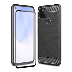 Don't compromise on your Google Pixel 4a 5g safety with this black, rugged case from Olixar. The case looks good, offers 360 degree protection and even comes with a tempered glass screen protector. Feel safe with Olixar.