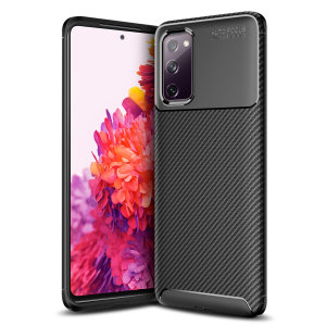 Olixar Carbon Fibre case is a perfect choice for those who need the looks and protection! A flexible TPU material paired with an eye-catching carbon print ensures your Samsung Galaxy S20 Fan Edition / FE 5G is well-protected and looks good in any setting.