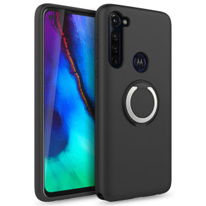 The Zizo revolve case in Black brings style and function together into a slim design whilst full protecting your Moto G Pro from accidental drops. The ring at the back doubles as a kickstand to watch your favourite series conveniently.