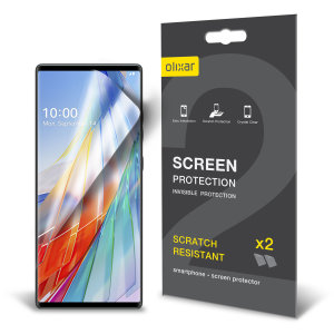 Keep your LG Wing in pristine condition with this Olixar scratch-resistant screen protector 2-in-1 pack.
