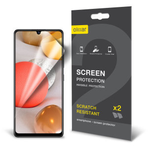 Olixar Samsung Galaxy A42 5G Film Screen Protector 2-in-1 Pack
