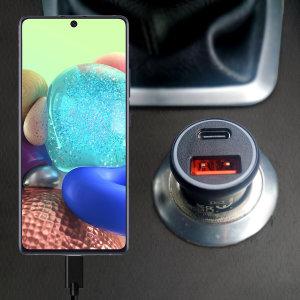 Olixar Samsung Galaxy A71 5G Car Charger With USB-C PD & QC 3.0- 36W