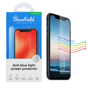 Protect your iPhone 12 Pro Max from drops and scratches with this medically accredited, tempered glass screen protector from Ocushield. Rest assured in its anti-bacterial technology against surface bacteria, and anti-blue light to prevent eye strain.