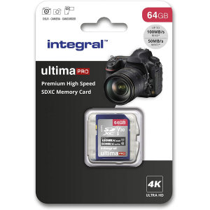 Not only great for keeping your memories safe, but also for your peace of mind. This Grade U3 64GB Micro SDXC memory card from Integral features impressive read / write speeds for retaining detail in photos, videos and more. Feel secure with Integral.