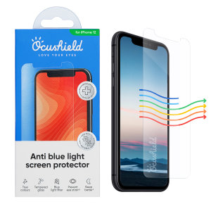 Protect your iPhone 12 from drops and scratches with this medically accredited, tempered glass screen protector from Ocushield. Rest assured in its anti-bacterial technology against surface bacteria, and anti-blue light to prevent eye strain.