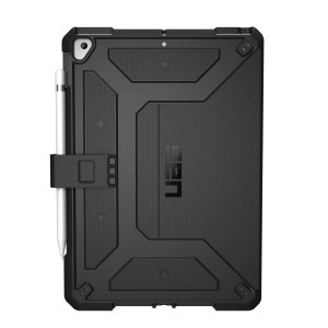 "Protect your new iPad 10.2"" 2019 (7th Gen) with this featherlight, sleek, black UAG Metropolis Case. This stunning case has an adjustable stand for watching movies, an Apple pencil holder and offers 360 degree protection from lifes little accidents."