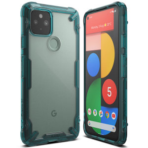 Keep your Pixel 5 protected from bumps and drops with the Ringke Fusion X tough case in Turquoise Green. Featuring a 2-part, Polycarbonate design, this case lives up to military drop test standards so you can rest assured that your device is safe.