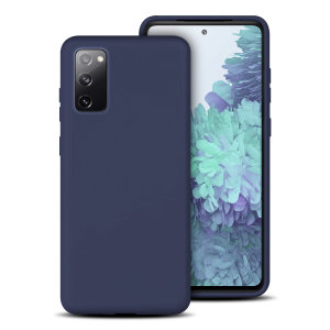 Olixar Samsung Galaxy S20 FE Soft Silicone Case - Midnight Blue