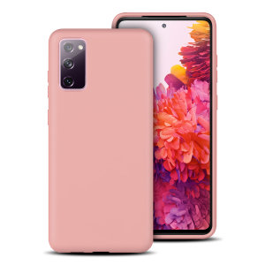 Custom moulded for the Samsung Galaxy S20 FE / FE 5G, this pastel pink soft silicone case from Olixar provides excellent protection against damage as well as a slimline fit for added convenience.