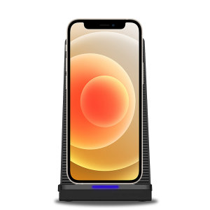 Charge your iPhone 12 mini without overheating with the Olixar 10W Wireless Charging Stand With Cooling Fan. The fan will keep your phone cool, which helps you keep your battery healthier for longer and improves charging speeds.