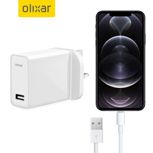 Olixar iPhone 12 Pro 5W Mains Charger & 1m Lightning Cable - White
