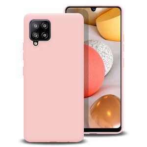 Custom moulded for the Samsung Galaxy A42 5G, this pastel pink soft silicone case from Olixar provides excellent protection against damage as well as a slimline fit for added convenience.