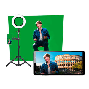 Have everything you need to begin your vlogging journey with this kit from Easypix. With the included microphone, green screen and tripod, you can be assured that your videos will look and sound professional. Bring out your creative side with Easypix.