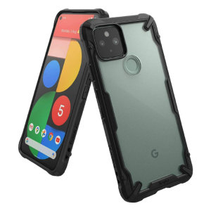 Keep your Google Pixel 5 protected from bumps and drops with the Ringke Fusion X tough case in Black. Featuring a 2-part, Polycarbonate design, this case lives up to military drop-test standards so you can rest assured that your device is safe