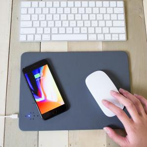 Kikkerland Qi Wireless Charging Mouse Pad - Grey