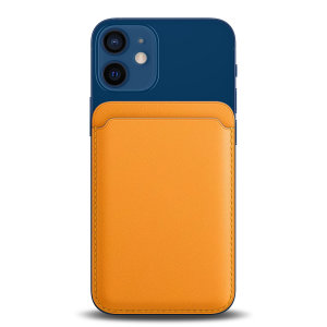 Designed for style and function, this MagSafe compatible card wallet in orange snaps directly onto the back of your iPhone using magnets. With RFID & NFC blockers, keep your ID & cards safe! Pair with a MagSafe case for a look that's unique to you.