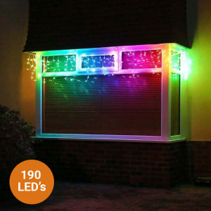 Twinkly Icicle Smart 190 LED lights RGB Edition Gen II - W/ AU Adapter