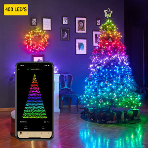Add colour to your celebrations with Twinkly 400 Smart Lights Gen II. Using the free iOS & Android companion app, brighten up your tree with a range of built-in animations & effects or create your own & share them with others. Comes with EU adapter.