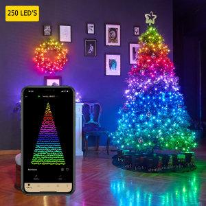 Twinkly Smart RGB 250 LED String Lights Gen II - W / US Adapter