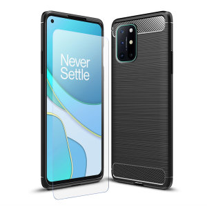 Flexible rugged casing with a premium matte finish non-slip carbon fibre and brushed metal design, the Olixar Sentinel case in black keeps your OnePlus 8T protected from 360 degrees with the added bonus of a tempered glass screen protector.