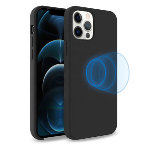 Custom moulded for the iPhone 12 Pro Max, this stunning, black Soft Silicone Case from Olixar contains a magnetic ring to allow for MagSafe accessories and chargers to snap on the back, as well as excellent protection against lifes little accidents.
