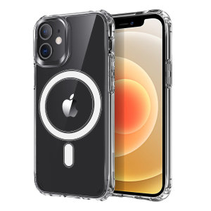 Custom moulded for your iPhone 12 mini, this stunning, clear Case from Olixar contains a magnetic ring to allow for MagSafe accessories and chargers to snap on the back, as well as excellent protection against lifes little accidents.