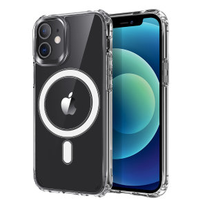 Custom moulded for your iPhone 12, this stunning, clear Case from Olixar contains a magnetic ring to allow for MagSafe accessories and chargers to snap on the back, as well as excellent drop and scratch protection.