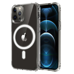 Custom moulded for your iPhone 12 Pro Max, this stunning, clear Case from Olixar contains a magnetic ring to allow for MagSafe accessories and chargers to snap on the back, as well as excellent drop and scratch protection.