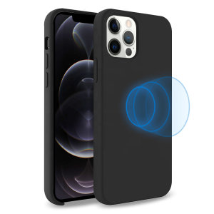 Custom moulded for the iPhone 12 Pro, this stunning, Black Soft Silicone Case from Olixar contains a magnetic ring to allow for MagSafe accessories and chargers to snap on the back, as well as excellent protection against lifes little accidents.