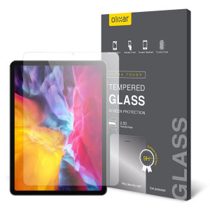 """This ultra-thin tempered glass screen protector for the iPad Pro 11"""" 2018 offers toughness, high visibility and sensitivity all in one package. Be secure in the knowledge that your iPad Air 4 is safe from lifes little accidents with Olixar."""