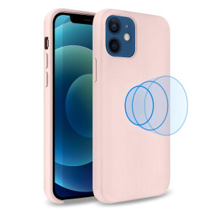 Custom moulded for the iPhone 12 mini, this stunning, pink Soft Silicone Case from Olixar contains a magnetic ring to allow for MagSafe accessories and chargers to snap on the back, as well as excellent protection against lifes little accidents.