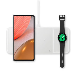 This Official Galaxy Note 20 Wireless Trio Charger looks great, has fast-charging capability and uniquely, has room to hold 3 devices at once! Whether it's your phone, smartwatch or earbuds, this charger will charge them quickly, effectively and safely