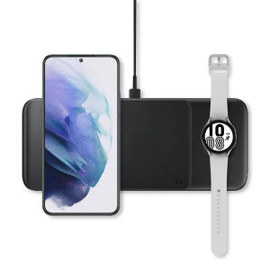 This Official Galaxy Note 20 Wireless Charger looks great, has fast charging capability and uniquely, has room to hold 3 devices at once! Whether it's your phone, smartwatch or earbuds, this charger can charge them quickly, effectively and safely!