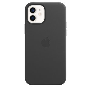 Custom moulded for the iPhone 12, this Official Apple sleek Black Genuine Leather Case contains a magnetic ring allowing MagSafe accessories and chargers to easily snap on the back, as well as excellent protection against lifes little accidents.