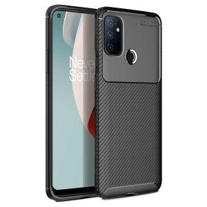 Olixar Carbon Fibre Oneplus Nord N100 Case - Black