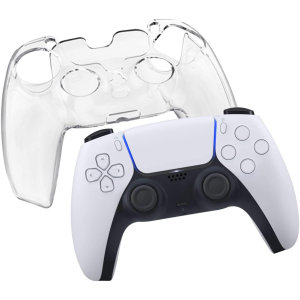 Keep your PlayStation 5 controller protected with this stunning, sleek hard plastic crystal clear case. This cover allows your gaming experience to be more comfortable, adding extra grip and protection from lifes little accidents.