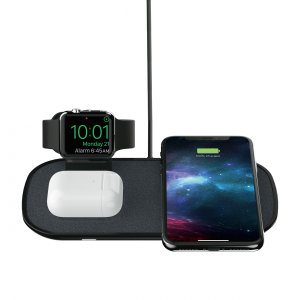 This Mophie 3-in-1 Qi Compatible 7.5W Wireless Charger looks great, has fast charging capability and uniquely, can charge 3 devices at once! Whether it's your phone, smartwatch or AirPods - this Mophie charger allows quick, effective and safe charging.