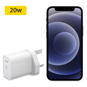 Olixar iPhone 12 Pro PD 20W USB-C Wall Charger - UK Plug - White