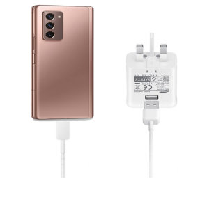 Official Samsung Galaxy Z Fold 2 5G Fast Charger & USB-C Cable - White