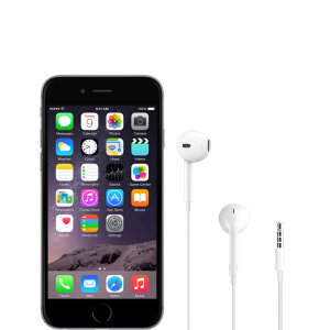 Official Apple iPhone 6 EarPods with 3.5mm Headphone Plug - White