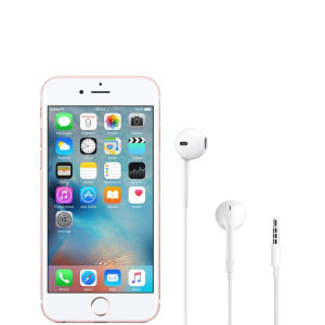 Official Apple iPhone 6s EarPods with 3.5mm Headphone Plug - White