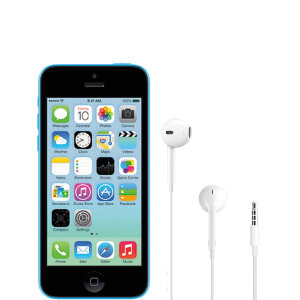 Official Apple iPhone 5c EarPods with 3.5mm Headphone Plug White
