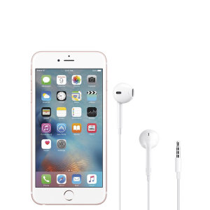 Official Apple iPhone 6s Plus EarPods with 3.5mm Headphone Plug White