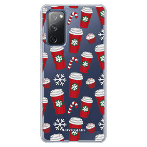 LoveCases Samsung Galaxy S20 FE Christmas Red Cups Case - Clear