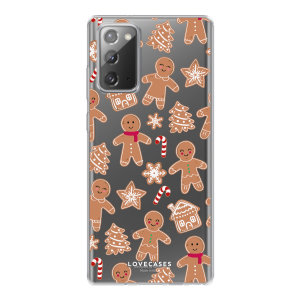 Give your Samsung Galaxy Note 20 a festive new look with this Christmas gingerbread phone case from LoveCases. Cute but protective, the ultra-thin case provides slim fitting and durable protection against life's little accidents.