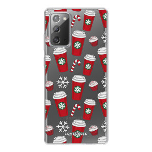 Add some Christmas cheer to your Galaxy Note 20 with this festive red cups design from LoveCases. Cute and protective, this ultra-thin clear case provides the perfect fit, grip and durable protection from drops, bumps and scratches.
